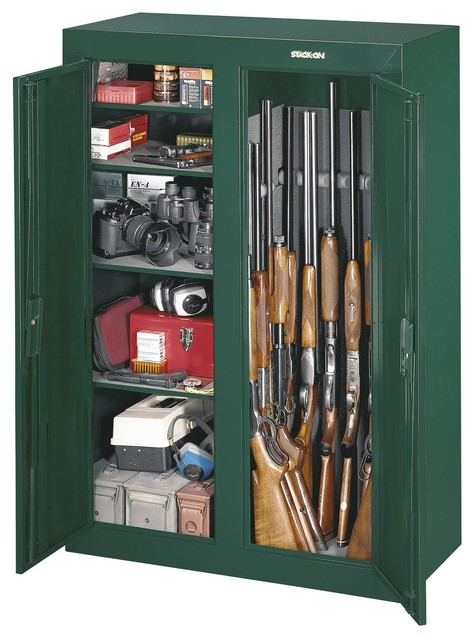 Gun Cabinet Steel Security Cabinet - 14-Gun - Contemporary - Closet Organizers - portland - by ...