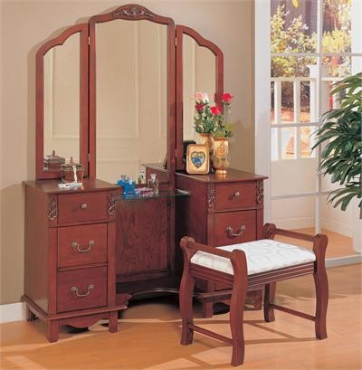 cherry dressing table set traditional bedroom makeup