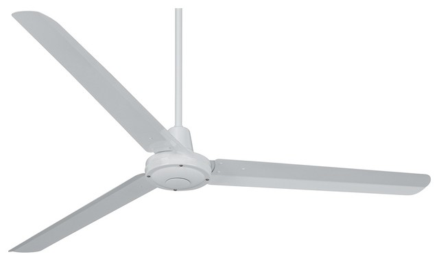 """60"""" Turbina White Ceiling Fan - Contemporary - Ceiling Fans"""