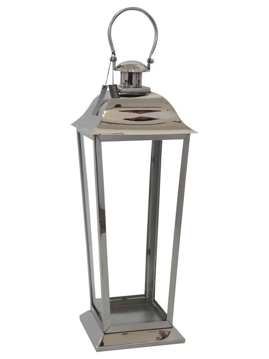 Hauser Dock Lantern - Polished Nickel - Small - The Dock lantern is available in various sizes. Prices vary dependent upon the size that you order up. It is made of polished nickel.