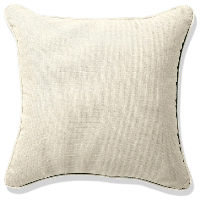 Outdoor Square Pillow in Sunbrella Off-White - traditional ...