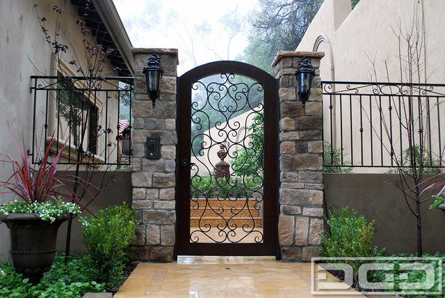 Custom Entry Gates For A Mediterranean Style Home Located