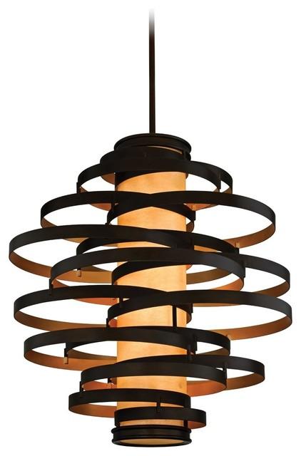 corbett lighting vertigo pendant bronze gold leaf. Black Bedroom Furniture Sets. Home Design Ideas