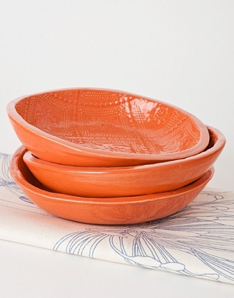 Wobbly Biscuit Stoneware Bowl modern-dining-bowls