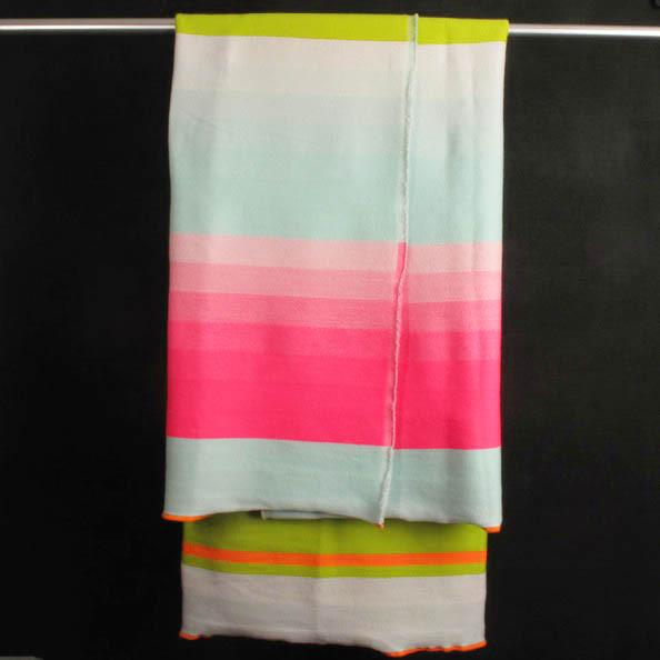 Scholten & Baijings Blanket, Pink, Green, Light Blue Stripe contemporary-blankets