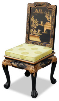 Hand Painted Chinoiserie Chair - China Furniture Online asian-dining-chairs