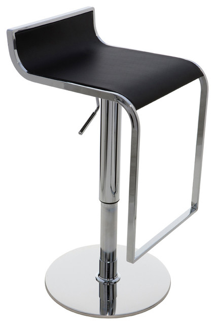 Alexander Adjustable Stool, Black modern-bar-stools-and-counter-stools