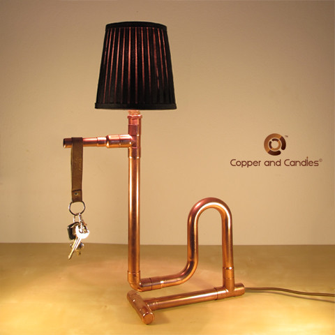 Handmade copper lamp modern other metro by copper and candles - Hand made lamps ...