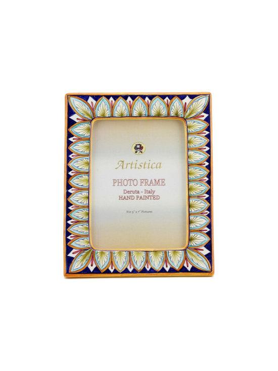 Artistica - Hand Made in Italy - Photo Frame: Deruta Vario Penne - Deruta Photo Frames: