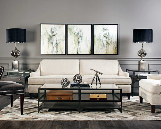 Jacob Sofa - High Fashion Home - The smart and sophistication Jacob Sofa just feels right in this bold, yet neutral setting.