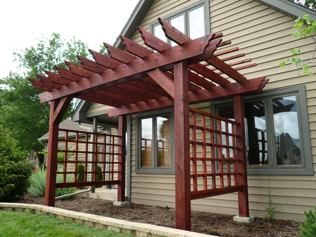 Pergola for Japanese garden trellis designs