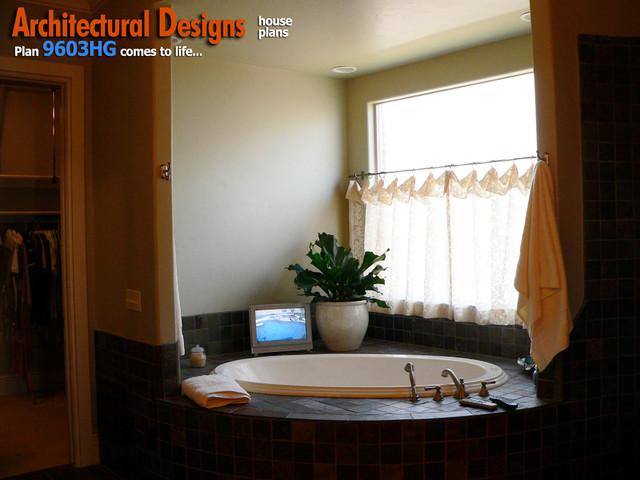 Architectural Designs 4 Bedroom European House Plan 9603HG traditional-bathroom
