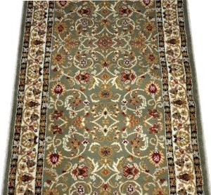 dean classic keshan sage green carpet rug runner sold by the foot traditional rugs by. Black Bedroom Furniture Sets. Home Design Ideas