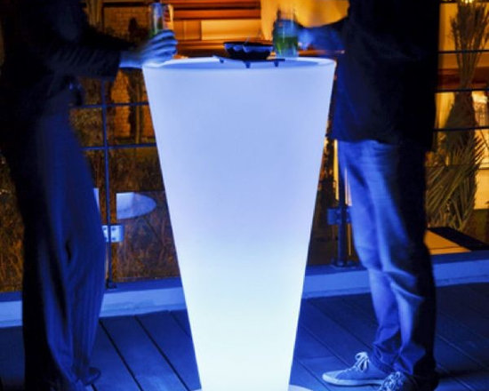 Up Illuminated Outdoor Bar or Bistro Table - Up illuminated outdoor bar or bistro table.