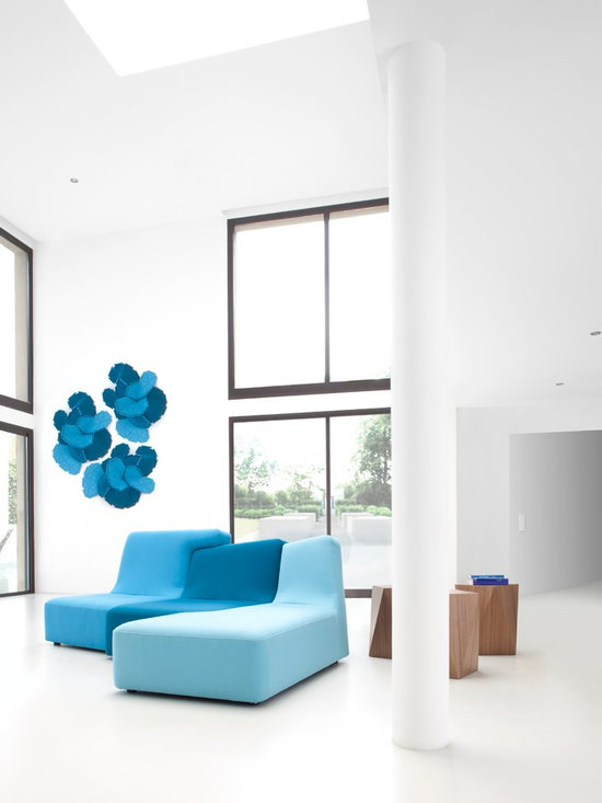 Confluences - Ligne Roset - Confluences sofa, Rocher side table, Clouds wall-mount.