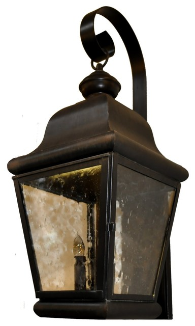 Miramonte Wall Mount Copper Lantern with Bracket by Lanternland traditional-outdoor-lighting