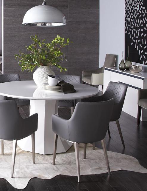 Sanara High Gloss White Round Dining Table