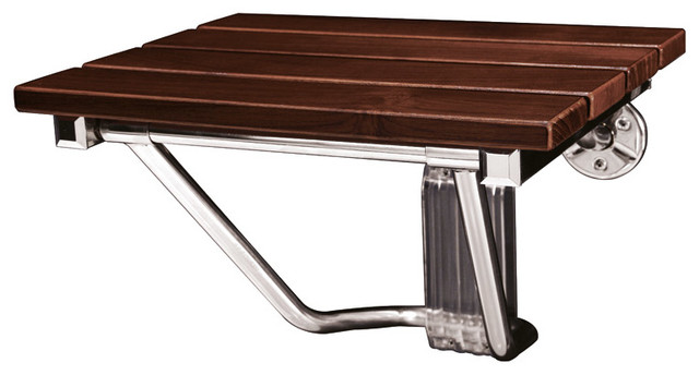 Folding Teak Shower Seat traditional-shower-benches-and-seats