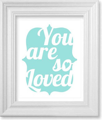 You Are So Loved Nursery Wall Art by Breeding Fancy modern nursery decor