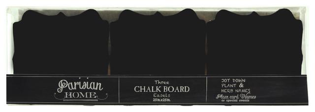 Table Top Free Standing Chalkboard / Blackboard Signs, Set of 3 bulletin-boards-and-chalkboards