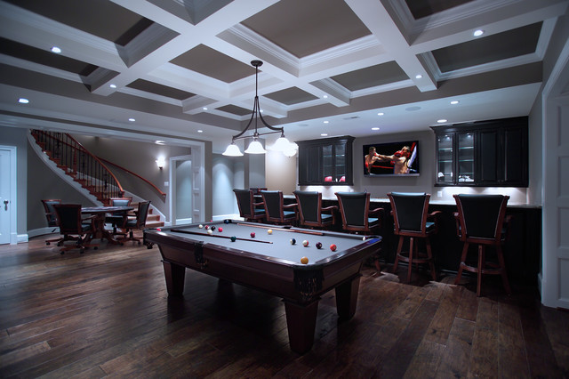Game and Entertainment Basement traditional