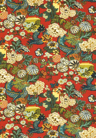 Chiang Mai Dragon Wallpaper, Lacquer asian-wallpaper