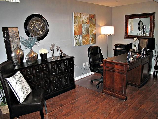Basement Reno contemporary-home-office