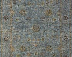 Rugsville Overdyed Dark Grey Grey Rug 11095-8x10 traditional-rugs