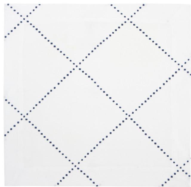 Anfa Blue and White Linen Napkin (Set of Four) contemporary-napkins
