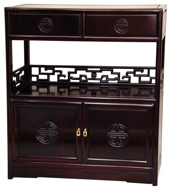 Rosewood Long Life Display Cabinet - Rosewood - Traditional - Display And Wall Shelves - by ...