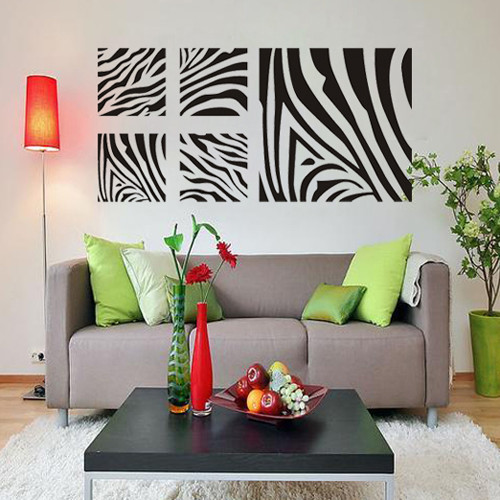 Zebra Stripes Wall Decor : Diy removable family vinyl wall art geometric sticker