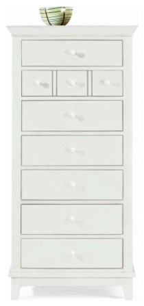 American Drew 181-280W Lingerie Chest- White Sterling Pointe traditional-dressers-chests-and-bedroom-armoires
