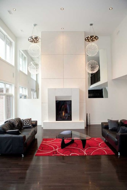 Summit Concrete Mantel contemporary fireplaces