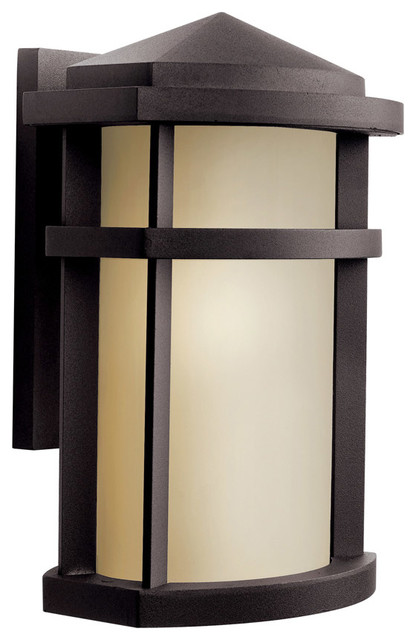 Kichler Lighting 11068AZ Lantana Bronze Outdoor Wall Sconce - Contemporary - Outdoor Wall Lights ...