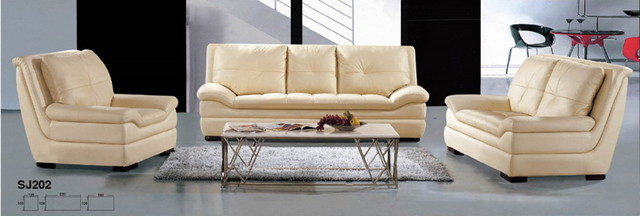 leather sectional sofa 1+2+3 (modern) tropical