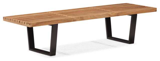 Zuo Heywood Triple Bench in Natural modern-benches
