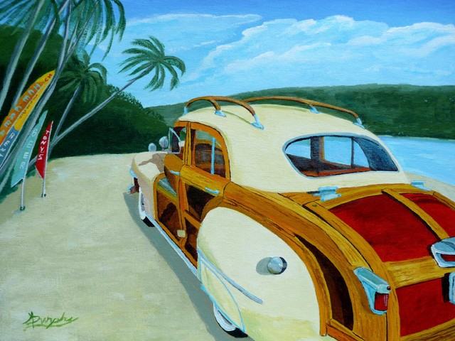 """""""Beach Woody"""" Artwork contemporary-originals-and-limited-editions"""