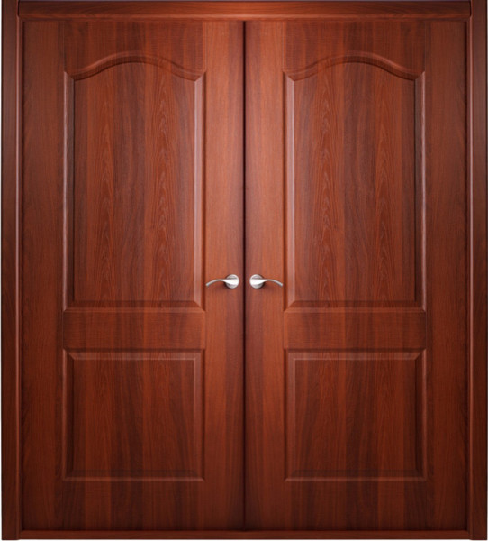 Prefinished Interior Double Door Italian Nutwood Veneer