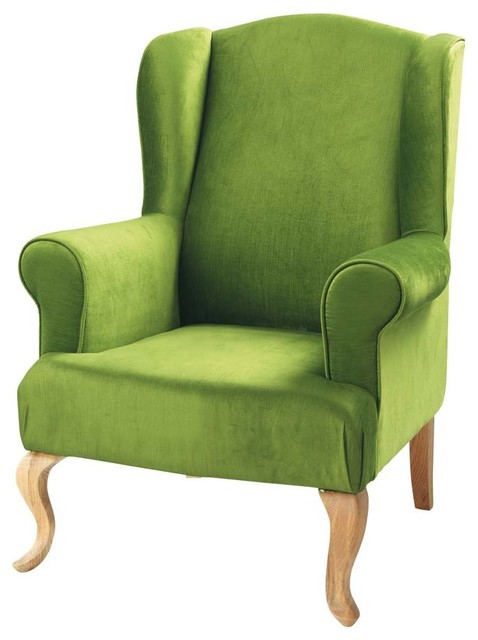 Charlie armchair green contemporary armchairs and for Contemporary armchair