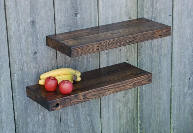 barn wood floating shelves 29x11 kitchen bath. Black Bedroom Furniture Sets. Home Design Ideas