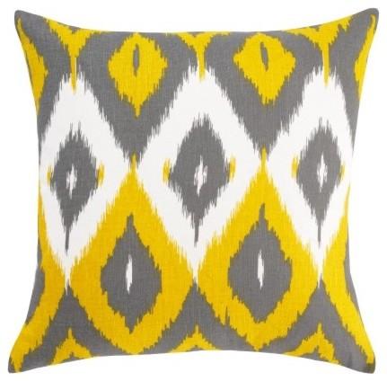 Diamond Ikat Citrine Pillow mediterranean-decorative-pillows