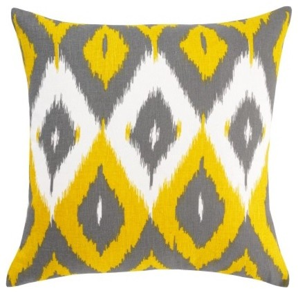 Diamond Ikat Citrine Pillow mediterranean pillows