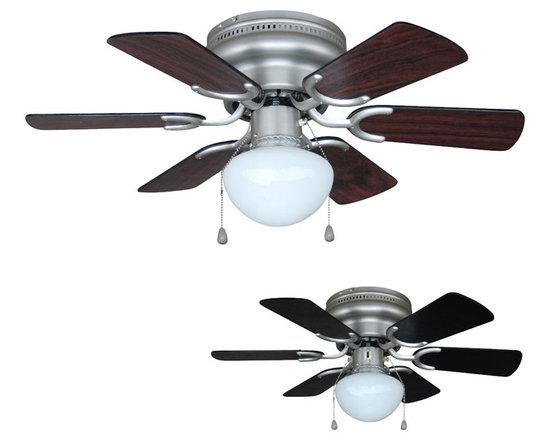 "Builder's Collection - Satin Nickel 30"" Hugger Ceiling Fan w/ Light Kit - Motor Finish: Satin Nickel"