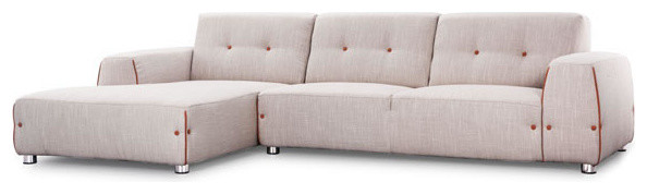 Linkoping Sectional RHF - Wheat Body Sunkist Orange Detail rustic-sectional-sofas