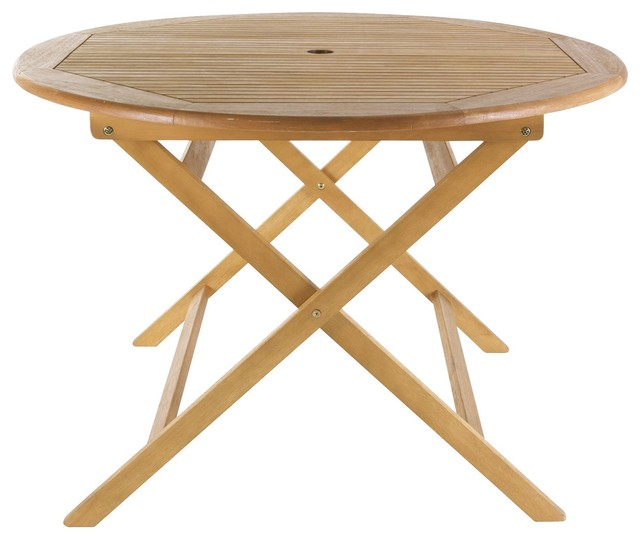 Aland Wooden Table Contemporary Garden Dining Patio Tables Other Metro By B Q