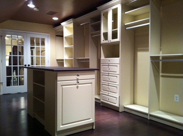 Walk-in Closet in Almond traditional-closet