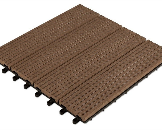 "Kontiki - Kontiki Composite Interlocking Deck Tiles - Basics Series - The Kontiki Composite Interlocking Deck Tiles - Basics Series is designed with the DIYer in mind. Whether you're building a new deck from scratch or merely sprucing up the surface of an existing one, Kontiki's Basics are easy to install, and ideal for any do-it-yourself decking project.   Installation Innovation  Each tile is backed with a ��_��_��_loop and hook"" installation mechanism that easily snaps tiles together over your substrate. Designed with further innovation in mind, this backing also accommodates alterations to tile dimensions when working around corners, or even arranging them in unique patterns.  Below cost, above expectations   We work closely with innovative manufacturers like these to ensure you get cutting edge products that are also affordable. Removing the middle men in the home improvement industry, we're able to streamline the supply chain and bring quality products right to your door with no added costs. Because of relationships like this, we're able to bring you quality products like Kontiki's Basics Series that offers the longest lasting DIY friendly decking at the lowest possible price. [10.0 pieces/box] - Dark Brown / 12""x12""x15/16"""