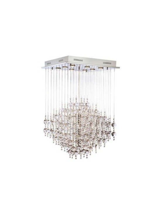 Chrome with Crystal Cloud Suspension Halogen Chandelier -