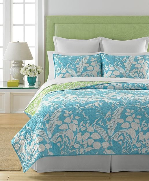 Martha Stewart Collection Paradise Palm Quilt - Contemporary - Quilts And Quilt Sets - by Macy's
