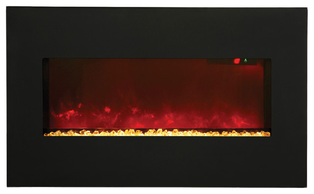 "Modular Electric Fireplace - 34"" x 21"" contemporary-indoor-fireplaces"